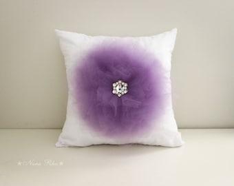 Purple Pillow Cover, Flower Pillow, Decorative Pillow, Throw Pillow, Cushion Cover, Accent Pillow, Purple Cushion Cover