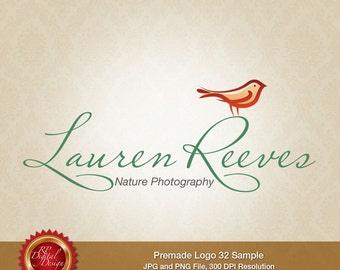 Premade Logo and Watermark, custom business logo - pml-32