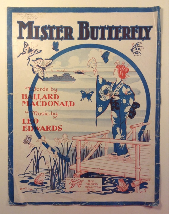 Mister Butterfly - Sheet Music