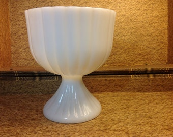 Antique Milk Glass Vase