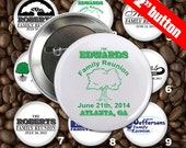 25 Family Reunion Personalized Custom 2 inch Pin Back Button Set - Wholesale Pricing