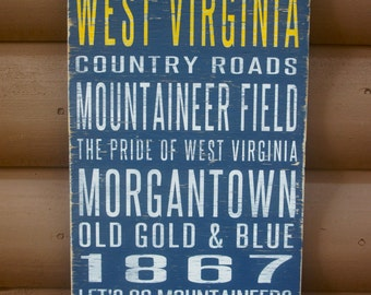 West virginia sign | Etsy