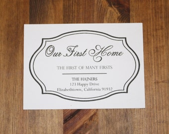 Our First Home Moving Announcement -- Set of 10