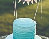 MR & MRS Wedding Cake Topper, cake bunting