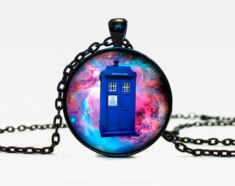 Tardis necklace Doctor Who pendant Doctor Who necklace Tardis jewelry Tardis pendant  time machine