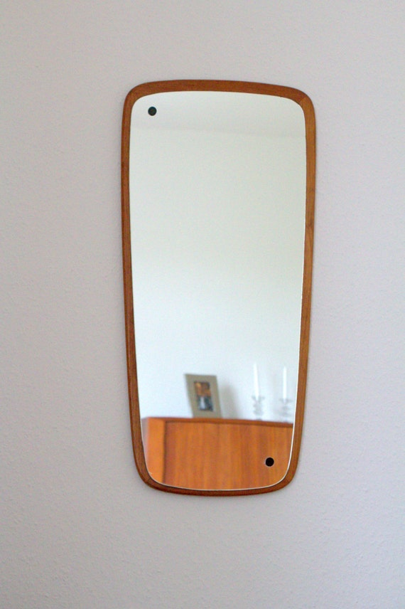 Mirror Teak Danish Design Vintage Mid Century By Trulleberg