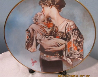 Vintage Mothers Day 1977 Collectors Plate by Joseph C. Leyendecker