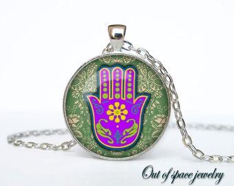 Hamsa pendant Hamsa hand necklace Hamsa hand  jewelry