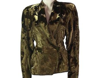 Vintage Janice Wainwright Evening Tuxedo Jacket 1970s