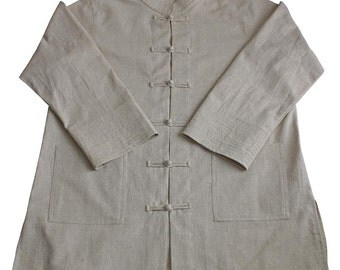Hemp 100%  Kung Fu Chinese Collar Shirt Jacket (BFS-124-02)