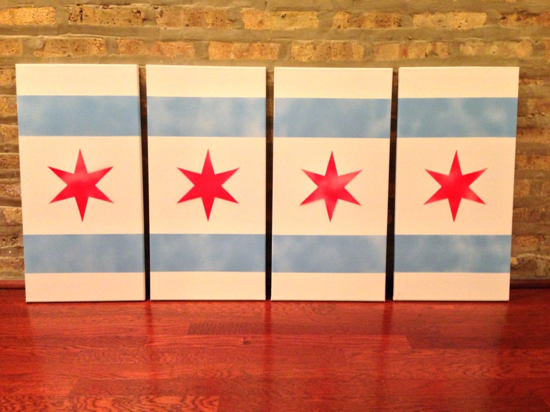 Chicago Flag Stencil 91043 | TRENDNET