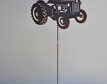 "11"" x 7 1/2"" metal Farm Tractor"