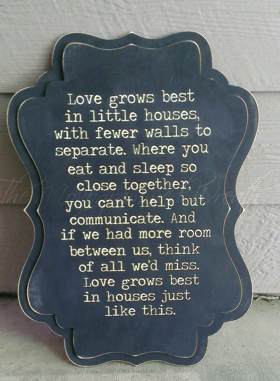 items similar to love grows best in little houses 24x17 u0026quot  whimsical sign on etsy