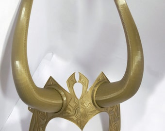 Golden Lady Loki Horns for Cosplay