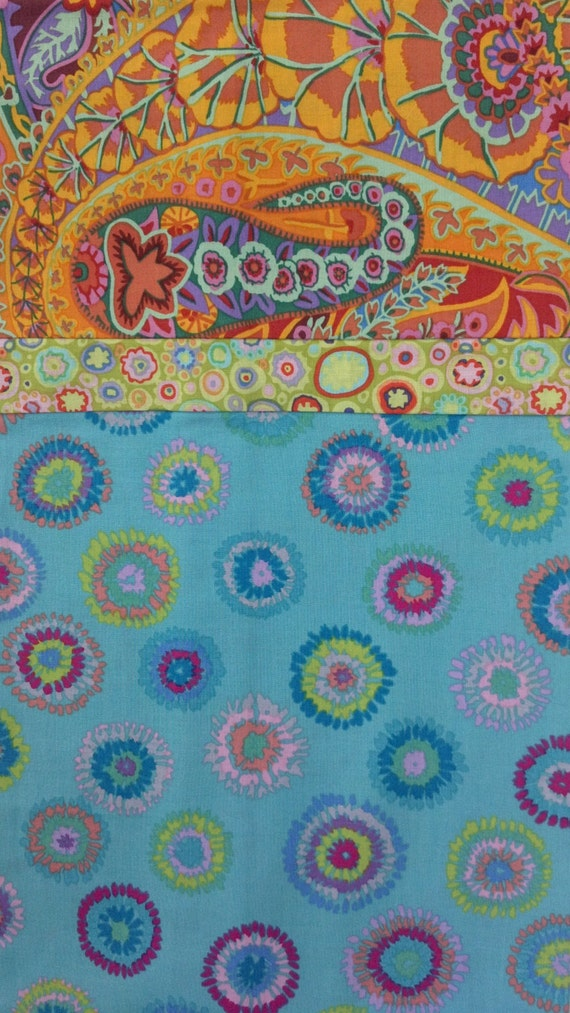 Bohemian Dreams Pillowcase Whimsical Aqua Orange Paisley
