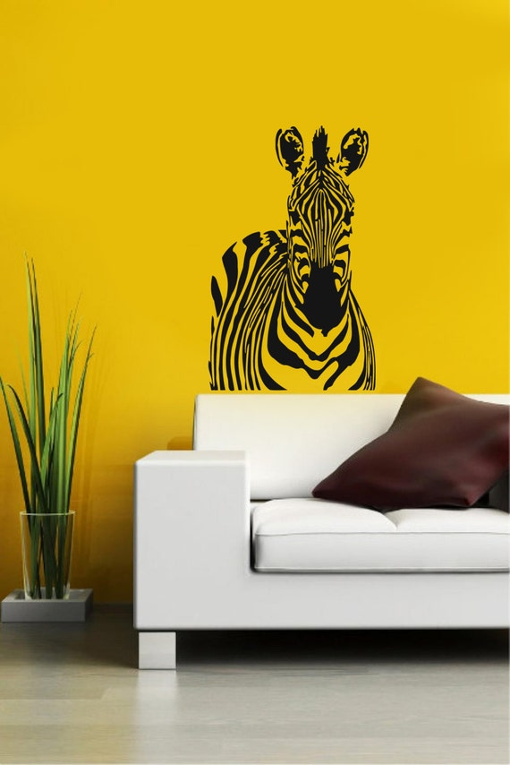Zebra african animal housewares wall vinyl by supervinyldecal for African wall mural
