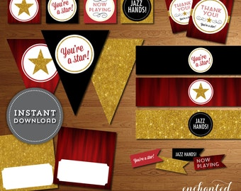 Instant Download - Printable DIY Broadway Party Pack