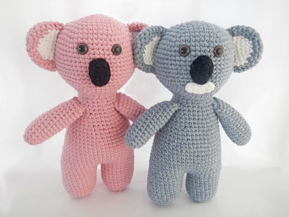 Crochet Pattern Koala Bear : Crochet Pattern for Amigurumi Koala Bear Toy - PDF Instant ...