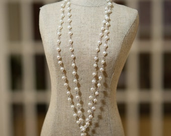 Stunning Freshwater Pearl and Diamond Lariat Necklace