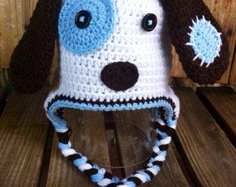 Puppy Dog Crochet Hat 0-5T