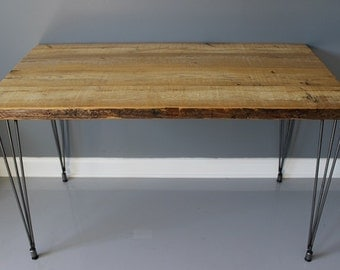 Rustic Wood Dining Table with Hairpin Legs, Dining Table, Reclaimed Wood Furniture, Kitchen Table