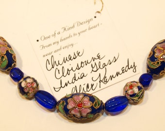"Cloisonne Necklace ""Ladee"""