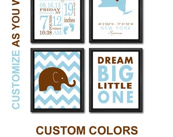 baby boy birth announcement wall art, personalized baby boy nursery decor, birth stats wall art, new baby boy decor, baby announcement print