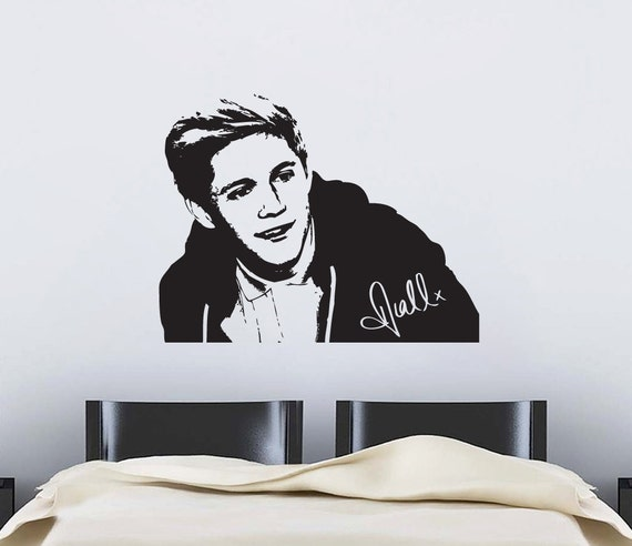 items similar to 1d one direction niall vinyl wall art sticker on etsy. Black Bedroom Furniture Sets. Home Design Ideas