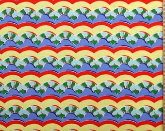 Felicity Miller Kites fabric Cloud Stripe FM25 RED blue yellow fabric freespirit sewing quilting child fabric 100% cotton fabric by the yard