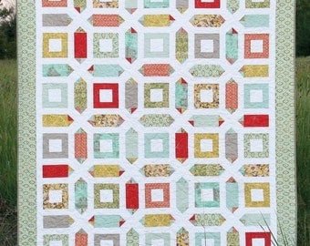 Seville Quilt Pattern #124 by Cluck Cluck Sew - Fat Quarter Pattern - Experienced Beginner to Intermediate (W746)