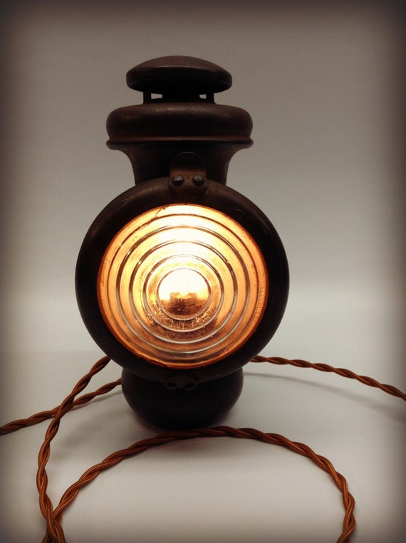 Antique Automobile Headlamps : Vintage antique ford model t headlight lamp carriage kerosene