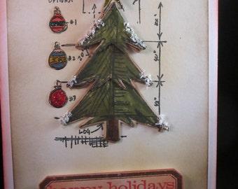 Christmas Tree Blueprint Card
