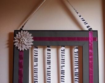 Hair Accessory Organizer| Bow Organizer| Accessories| Repurposed Frame