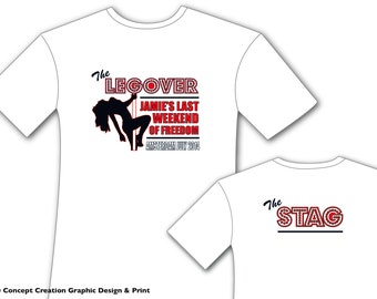 The 'Legover' - Last weekend / night of freedom STAG PARTY Tshirts - Personalised