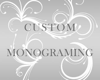 Custom Leather Monogramming