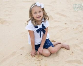 Girls Toddler Nautical Sailor Top, Childrens Sailor Top, Child Sailor Top, Baby Nautical Clothing, Kids Sailor Top, Sailor Shirt