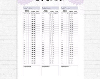Baby's Schedule Baby Feeding Schedule Breast Feeding
