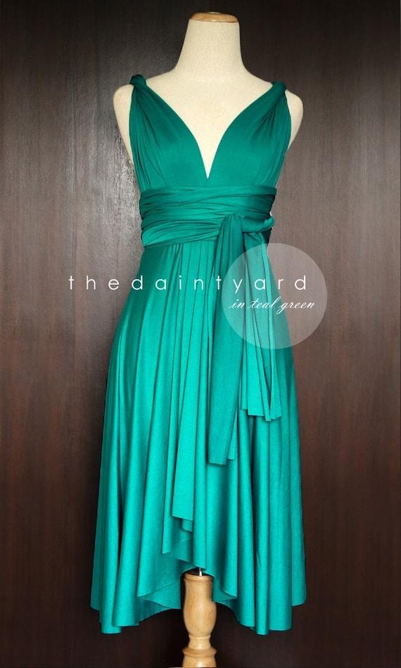 Teal Green Bridesmaid Dress Convertible Dress By Thedaintyard