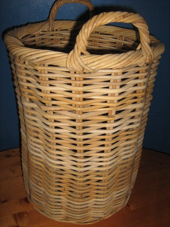 Panier En Osier Wicker : Very large woven wicker baguette basket memsart