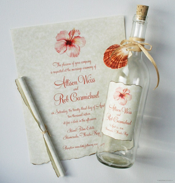 to message in a bottle invitations bottle wedding invitations