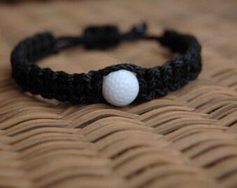 Trendy Black Golf Bracelet