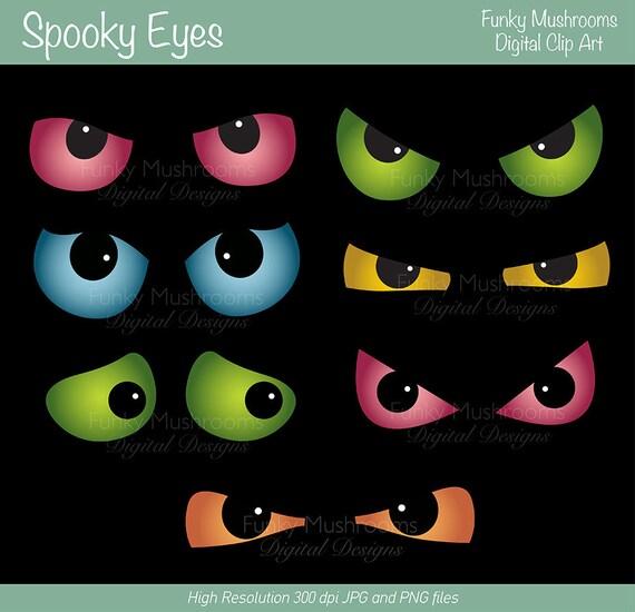 spooky eyes clip art free - photo #3