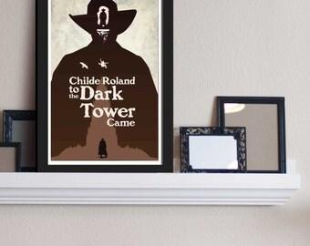 The Gunslinger : Dark Towers - Stephen King Inspired - Movie Art Poster