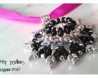 "Pattern/Schema-Superduo pendant: ""Riccio di Mare""-Italian and English instructions with photos"