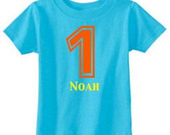 Number Shirt | 1st Birthday Shirt | Birthday Number Shirt | Birthday Party Shirt | 1 Shirt | Birthday Shirt | Personalized Birthday Shirt
