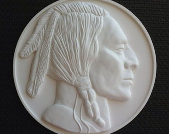 Relief wall sculpture Buffalo Nickel Reproduction Coin,Wall Decor,free shipping
