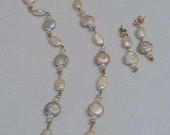 Under the Sea Pearl Necklace and Earring Set