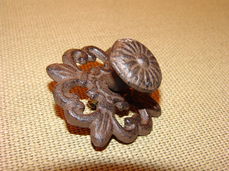 Antique Cabinet Pulls Flower Pull Knob Vintage Bronze Finish Antique Cabinet Handle