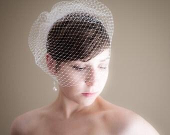 Birdcage Wedding Veil (Russian netting veil, bridal veil, small veil, Bird cage veil, Retro, Vintage Inspired)