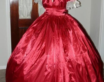 Civil War Reenactment Ladies Juniors Ball Gown Sizes, Different Styles, Colors available